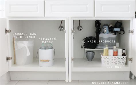 how to organize under the bathroom sink 4 tips to organize under the bathroom sink via clean mama
