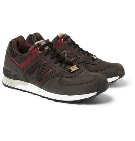 new balance leather sneakers new balance 576 andy mandle nubuck leather sneakers in