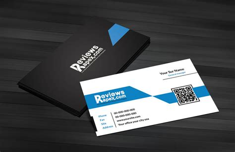 Blue Business Card Template Free by Black Blue Corporate Business Card Template By