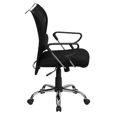Mid Back Mesh Swivel Chair Adjustable Lumbar Support Mesh Swivel Chair