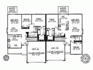 2500 sq ft ranch house plans eplans ranch house plan charming duplex with two car