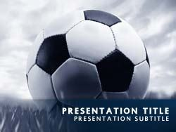 free soccer powerpoint template royalty free soccer powerpoint template in blue