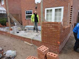 single storey kitchen extension construction diary before