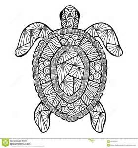 stylized vector turtle zentangle stock vector image