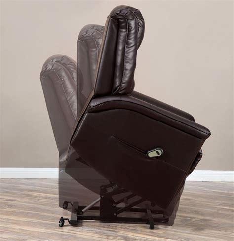 leather power lift recliner chair stand power lift dark brown leather recliner