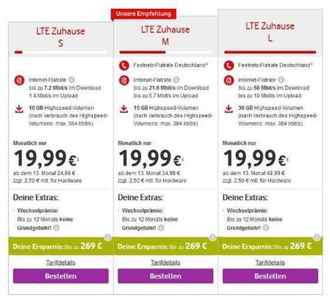 Vodafone Lte Zuhause Mit 30 Gb F 252 R 19 99 4g De