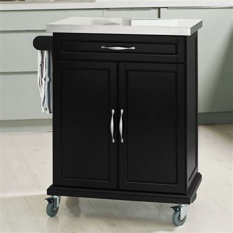 Kitchen Cabinet On Wheels by Sobuy 174 Wood Kitchen Cabinet Kitchen Cart Trolley With