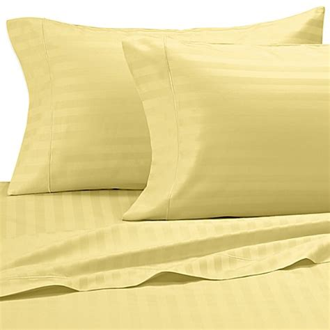 yellow pattern queen sheets buy damask stripe 500 thread count olympic egyptian cotton