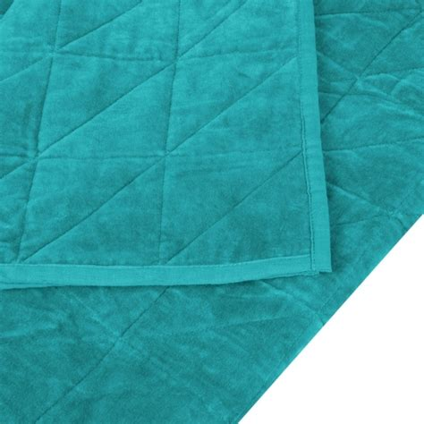 Teal Quilted Throw by Teal Velvet Quilted Throw Luxury Throws Blankets