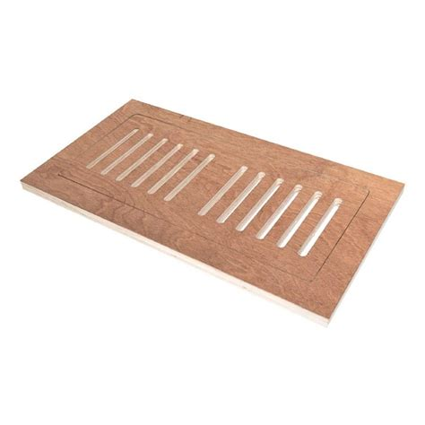 4 in x 12 in engineered hardwood flush mount floor register hand scraped cherry natural