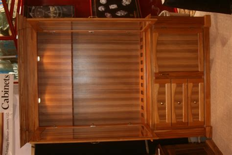 mahogany and zebra wood gun cabinet figueroa s