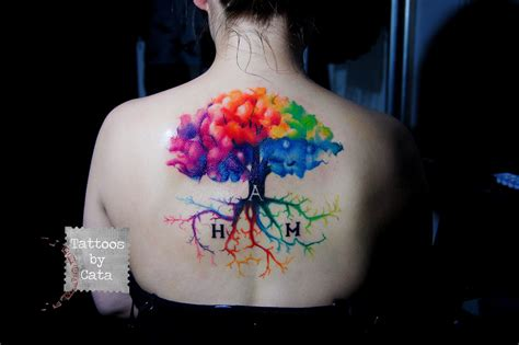 watercolor tattoo tree watercolor tree by tattoosbycata on deviantart