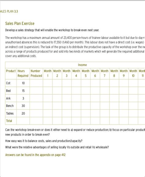 sales plan format monthly sales plan templates 11 free word pdf format