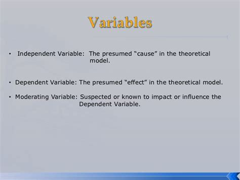 variables in a research paper sle research paper with variables