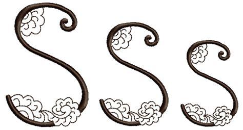 henna design font mehndi style font letter s