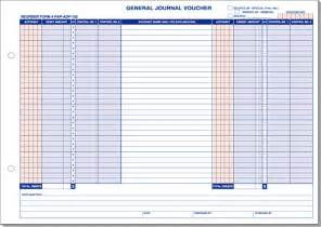 General Journal Template by General Journal Voucher Template Printable Go