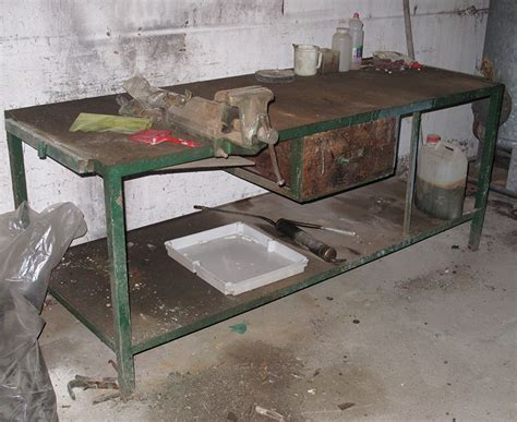 second hand work bench ceramics work bench with vise