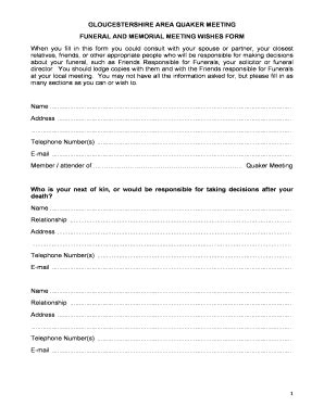 Funeral Wishes Document Template Funeral Wishes Form Fill Out Online Download Printable Templates In Word Pdf From Funeral
