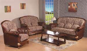 Leather Sofa Fabric 3 Pc Swank Genuine Leather Fabric Sofa Set