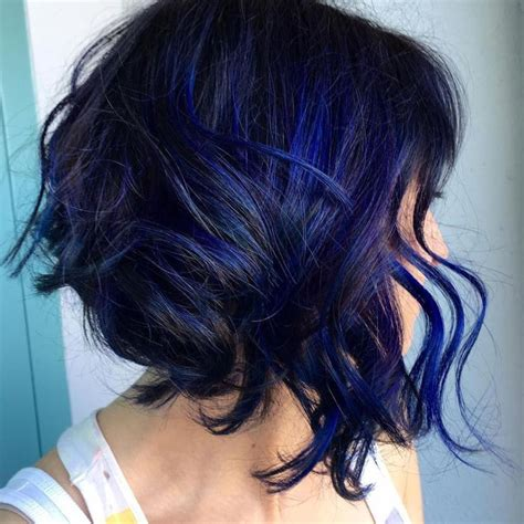 Blue And Hairstyles by Best 25 Blue Hair Highlights Ideas On Blue