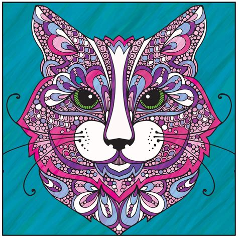coloring pages for adults already colored wild about cats adult coloring book with relaxation cd