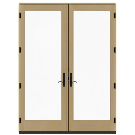 96 Patio Door Jeld Wen 72 In X 96 In W 4500 Vanilla Prehung Left Inswing Patio Door With
