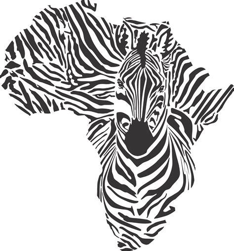 printwallart african zebra map