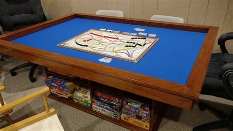 diy board table build your own gaming table with plenty of storage
