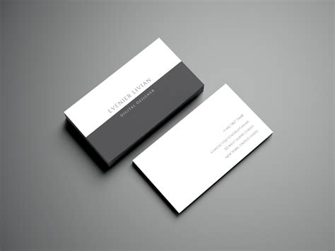 Minimalistic Business Card Template Free by Minimal Business Card Template