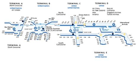 map of george bush intercontinental airport houston texas houston intercontinental iah airport map united airlines