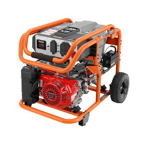 ridgid 7 000 watt gasoline powered electric start portable