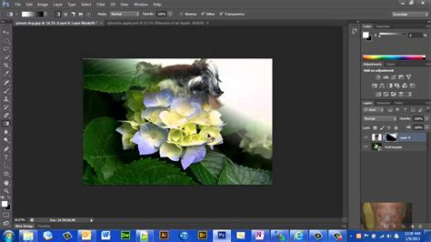 tutorial photoshop cs6 how to blend two pictures together photoshop cs6 how to using layer mask and gradient tool to