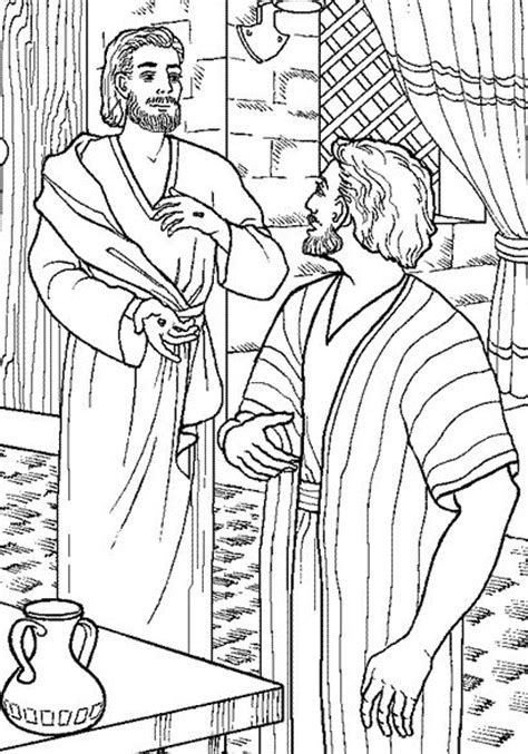 coloring page for doubting thomas free coloring pages of jesus thomas