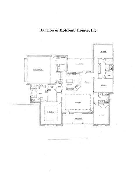 zero lot line house plans floorplans 171 harmon and holcomb homes