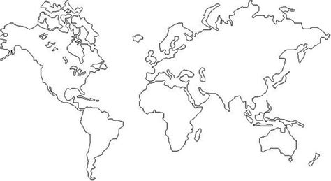 coloring page world continents world map coloring page coloring pages