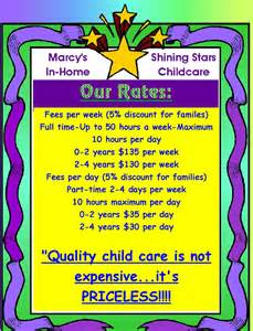 rates marcy s shining in home childcare