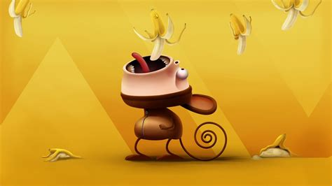 bananagaming wallpaper mono gracioso 1920x1080 fondos de pantalla y wallpapers