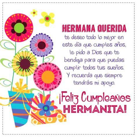 imagenes bonitas para el cumpleaños de mi hermana tarjetas de cumplea 241 os para una hermana 187 im 225 genes frases