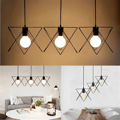 3 In 1 Pendant Lighting 3 In 1 Metal Vintage Ceiling Light Pendant L Cage Lshade Fixture Chandelier Indoor