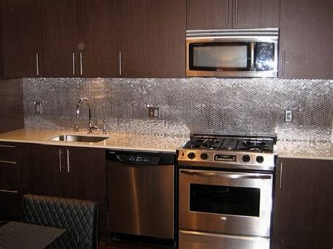 kitchen metal backsplash fresh modern kitchen backsplash trends 7537