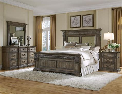 bedroom l set pulaski furnishing arabella panel bedroom set
