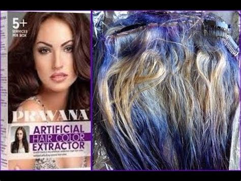 how to get out pravana pravana artificial color extractor youtube