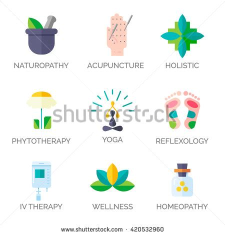 homeopathy treatments by holistic md in dallas fort alternative medicine icons modern flat style holistic