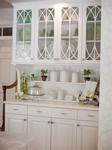how to decorate kitchen cabinets with glass doors photos hgtv