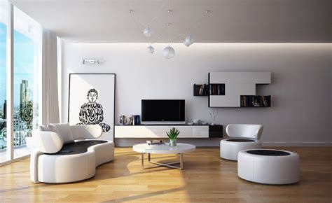 White Modern Living Room by Modern Black White Living Room Furniture Interior Design