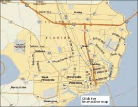 pensacola florida maps