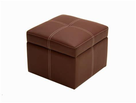 Delaney Small Square Storage Ottoman Brown Coffee Brown Ebay Storage Ottoman Brown