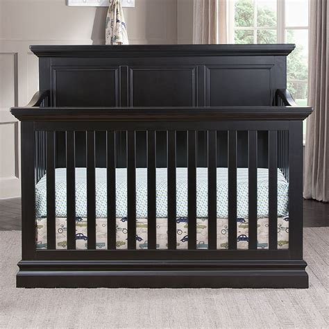 Cheap Black Baby Cribs Solid Back Crib Alternate View Romina Furniture Imperio Solid Panel Convertible Crib Fall