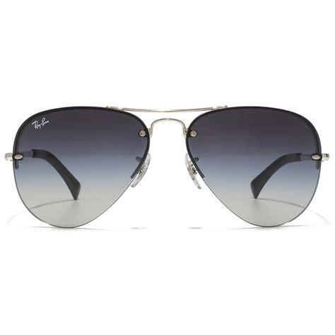 Rimless Aviator Sunglasses ban rimless aviator sunglasses in silver grey gradient
