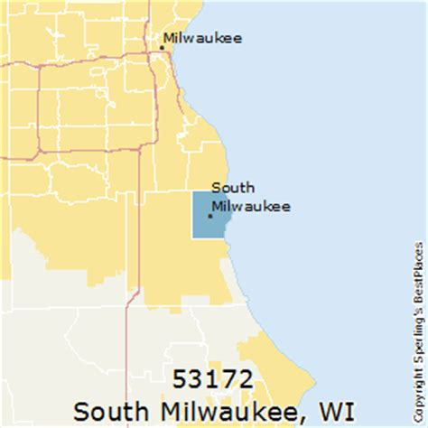 zip code map milwaukee best places to live in south milwaukee zip 53172 wisconsin